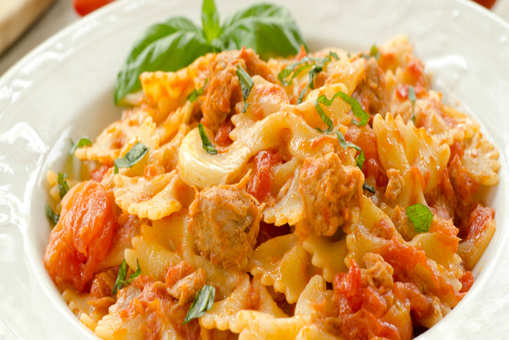 Farfalle Pasta with Roasted Tomatoes