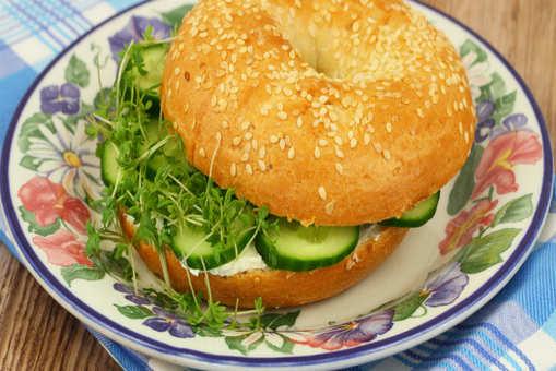 Cucumber Sesame Bagel