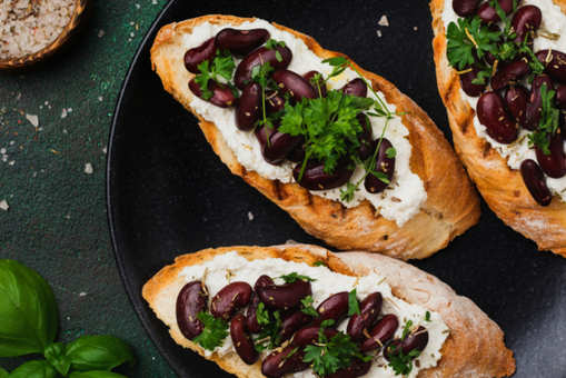 Kidney Beans Sandwich with Cottage Cheese
