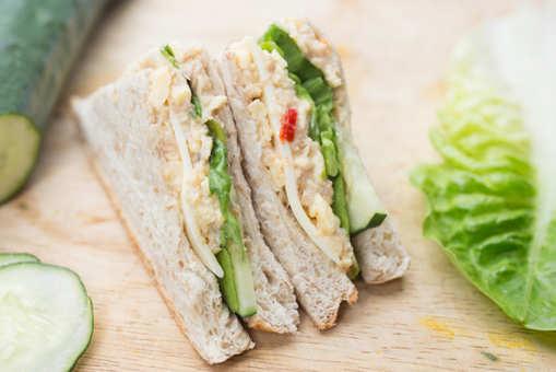 Cucumber Pea Sandwich