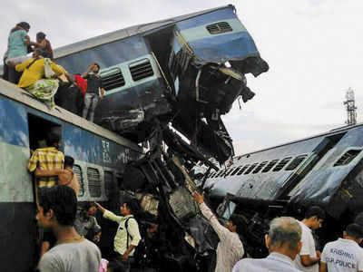 UP train derailment: Top developments | India News - Times
