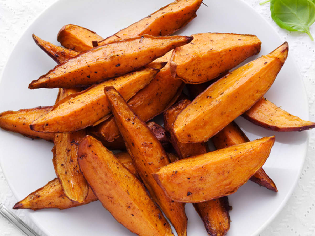 Sweet Potato Wedges Recipe How To Make Sweet Potato Wedges Recipe Homemade Sweet Potato Wedges Recipe