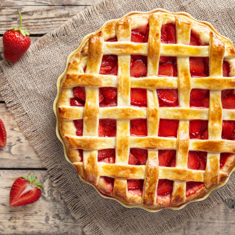 Strawberry Pie Recipe How To Make Strawberry Pie Recipe Homemade Strawberry Pie Recipe