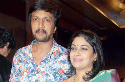 Actor Sudeep, wife to reunite