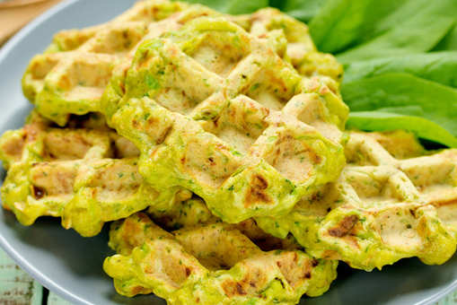Spinach Waffle