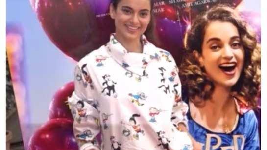 Kangana Ranaut at 'Simran' song launch