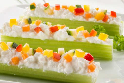 Celery with Cream Cheese Mix