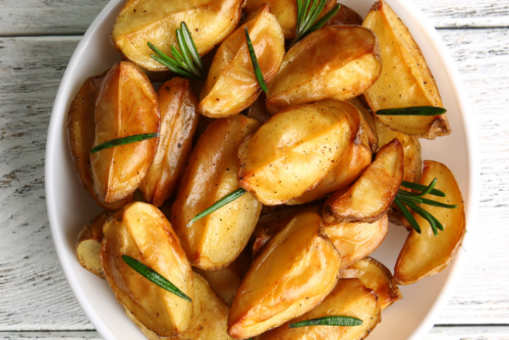 Baked Sweet Potato with Ginger and Honey