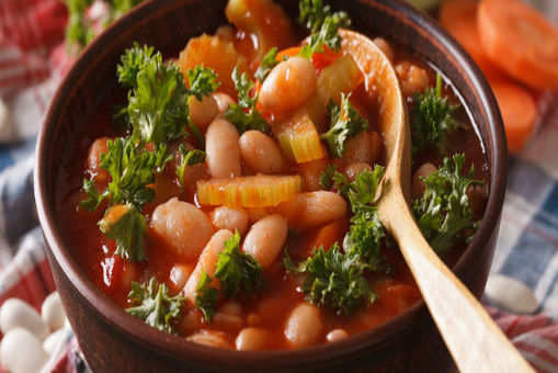 Spicy Salsa and Bean soup