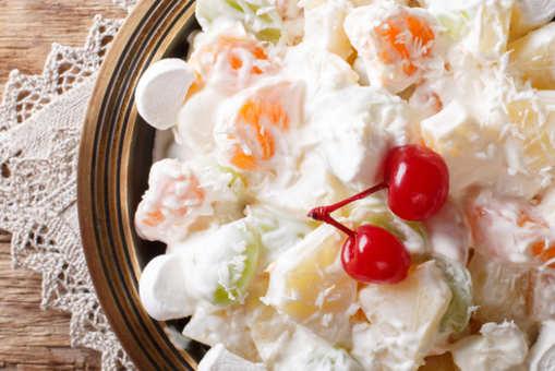 Pina Colada and Fruit Salad