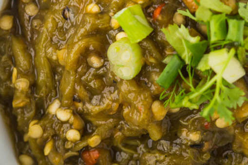 Palak Curry with matki sprouts