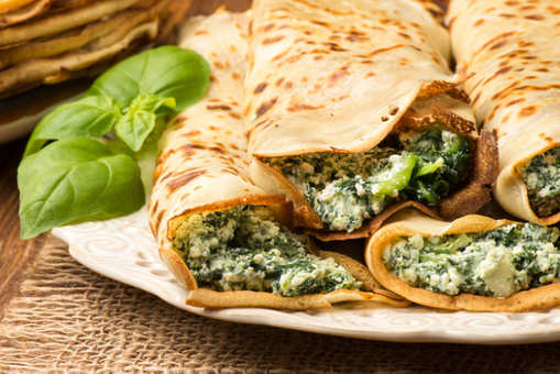 Spinach and Cheese Frankie