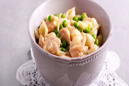 Basil Chicken with Peas and Broad Beans