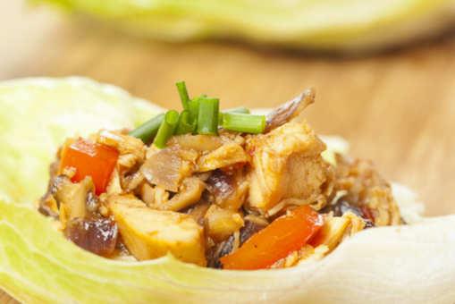 Healthy Chilli Chicken Lettuce Wrap
