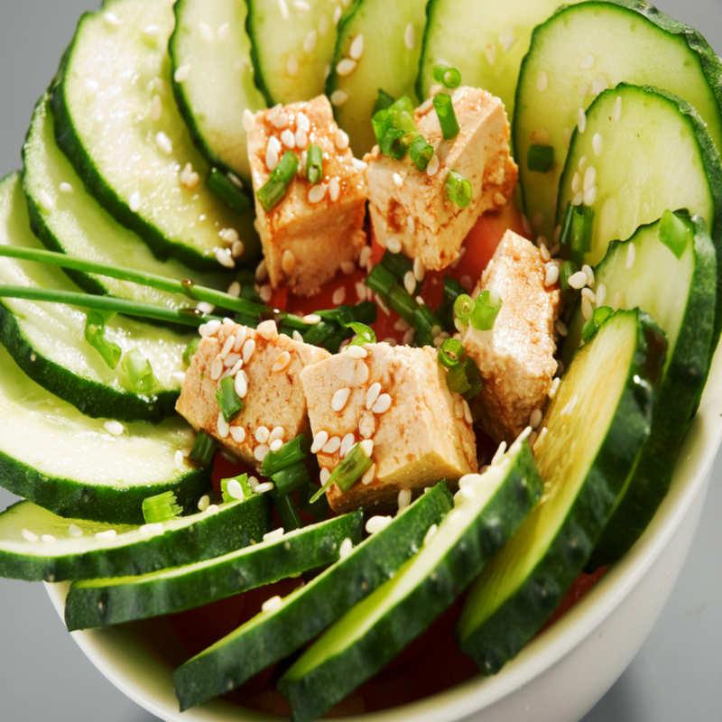 Tofu Cucumber Salad Recipe: How to Make Tofu Cucumber Salad Recipe |  Homemade Tofu Cucumber Salad Recipe