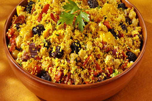 Moroccan Mushroom Couscous Salad