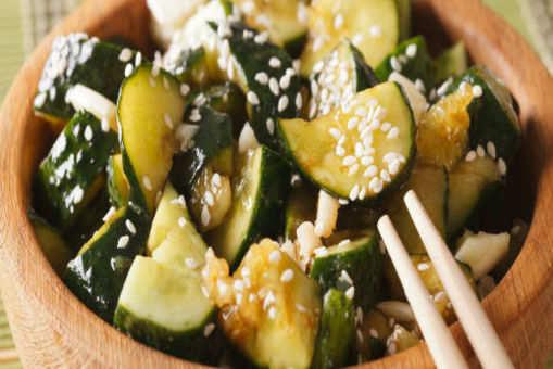 Smashed Chicken Cucumber Salad