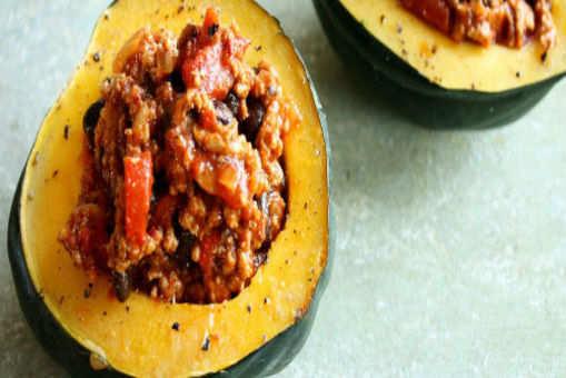 Fruit-filled Acorn Squash