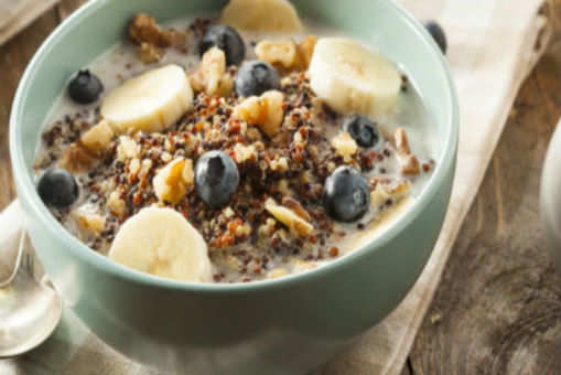 Blueberry and Banana Quinoa Cereal