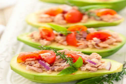 Salad-Stuffed Avocados