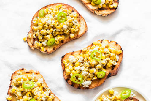 Sweet Corn Bruschetta