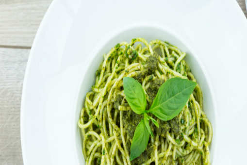 Green Pasta with Coconut