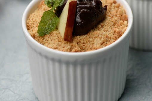 Chocolate and Apple Crumble