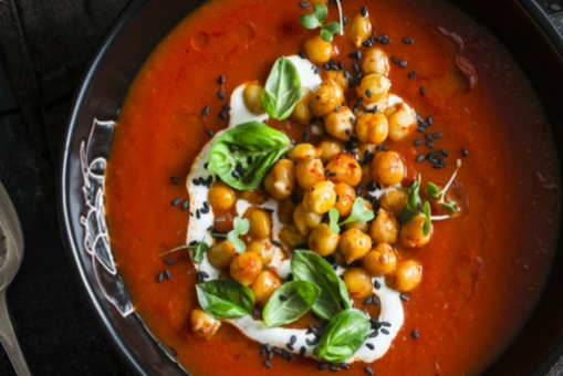 Chickpea Tomato Soup