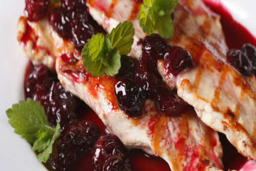 Cherry-Topped Grilled Chicken