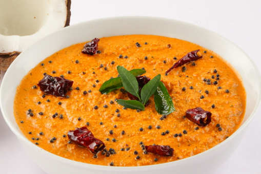 Jain-style Red Coconut Chutney