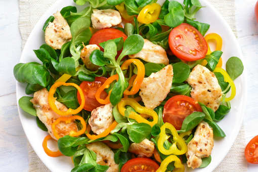Chicken Salad with Spring Onions and Sun-dried Tomatoes