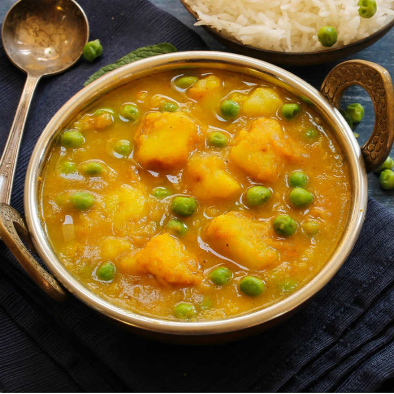Aloo Matar Recipe How To Make Aloo Matar