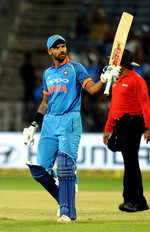 India vs New Zealand 2nd ODI in Pune, India bats