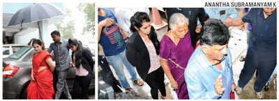 Dk Shivakumar Energy Minister Dk Shivakumar And Family Appear Before I T Officials