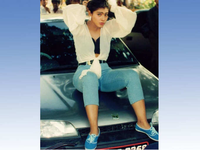 Throwback pic: When Kajol posed with her first car