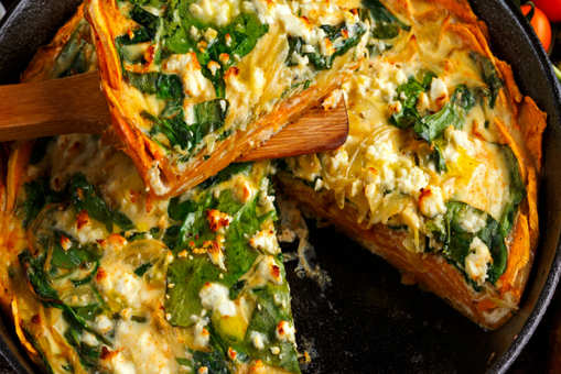 One-Pot Potato and Spinach Pie