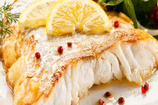 Sea Bass with Saffron Sago Pearl