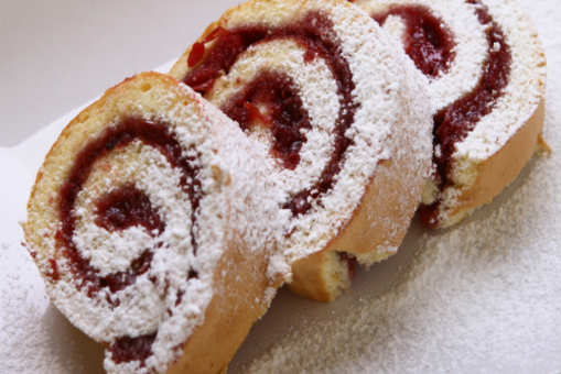 Red and White Chocolate Roll