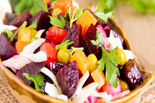 Beetroot and Potato Chaat