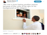 ​Barack Obama's tweet quoting Nelson Mandela