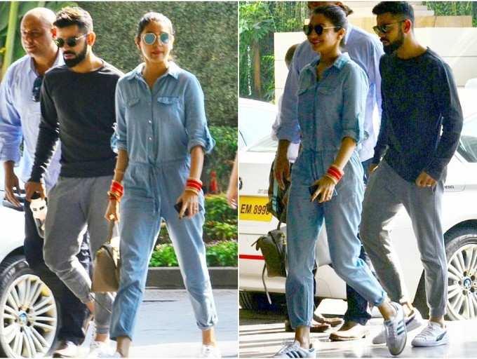 Pic: Anushka Sharma and Virat Kohli arrive at the venue ahead of their Mumbai wedding reception