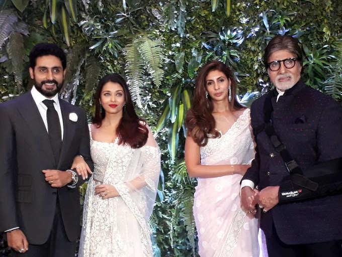 Abhishek-Aishwarya, Amitabh-Shweta add glamour to Anushka Sharma-Virat Kohli's Mumbai Reception