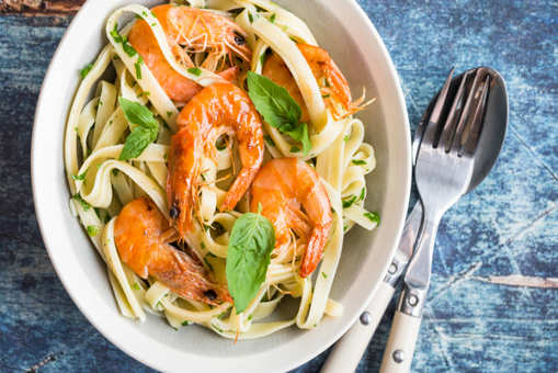 Prawn and Basil Pasta