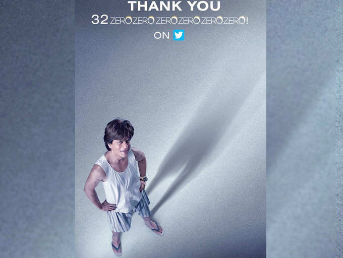 Shah Rukh Khan announces 'Zero', hits 32 million mark on Twitter