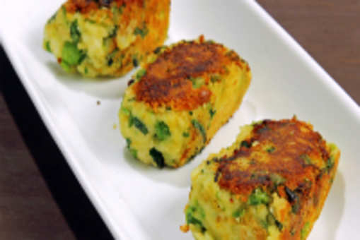 Potato and Paneer Cutlets