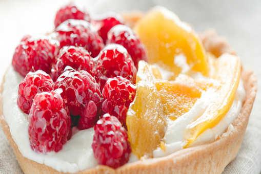 Mango Raspberry Tarts