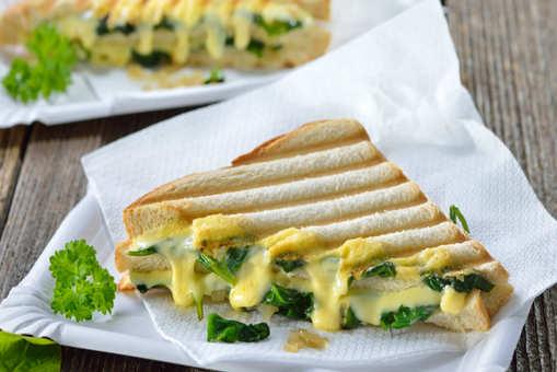 Grilled Spinach Sandwich