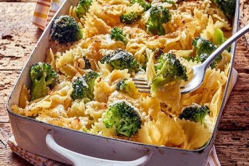 Broccoli Cheese Farfalle Casserole