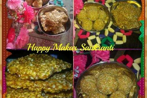 Til Jaggery Laddoo and Chikki