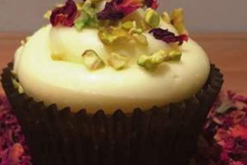 Kesar Cupcakes with Shahi Firni Frosting